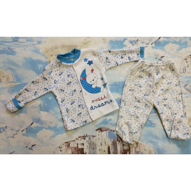 Костюм для новорожденных от 0 до 3 месяцев, цвет - голубой |2799514