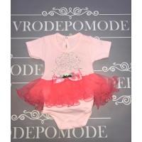 Боди с юбкой, цвет-розовый 54003