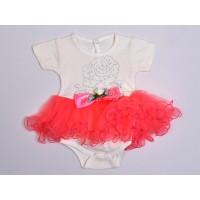 Белое боди с розовой юбкой 54003