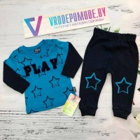 Спортивный костюм для мальчиков,цвет-синий |56135