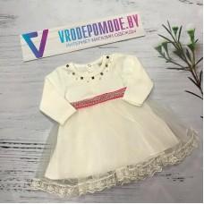 Платье для новорожденных, цвет-белый 68889