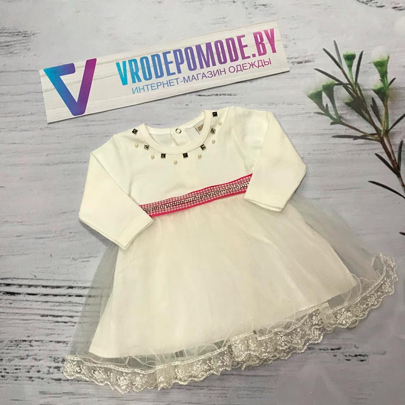 Платье для новорожденных, цвет-белый|68889