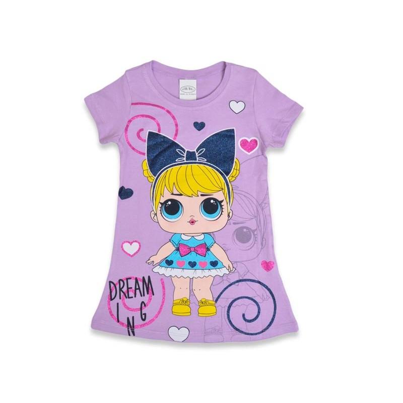 Детское платье для девочек, цвет-фиолетовый 321201