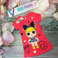 Детское платье для девочек, цвет-розовый|321201