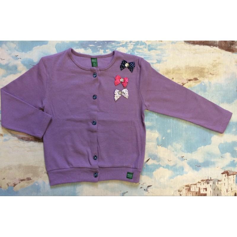 Кардиган для девочек от 2 до 9 лет,цвет фиолетовый маломерит |15091-1