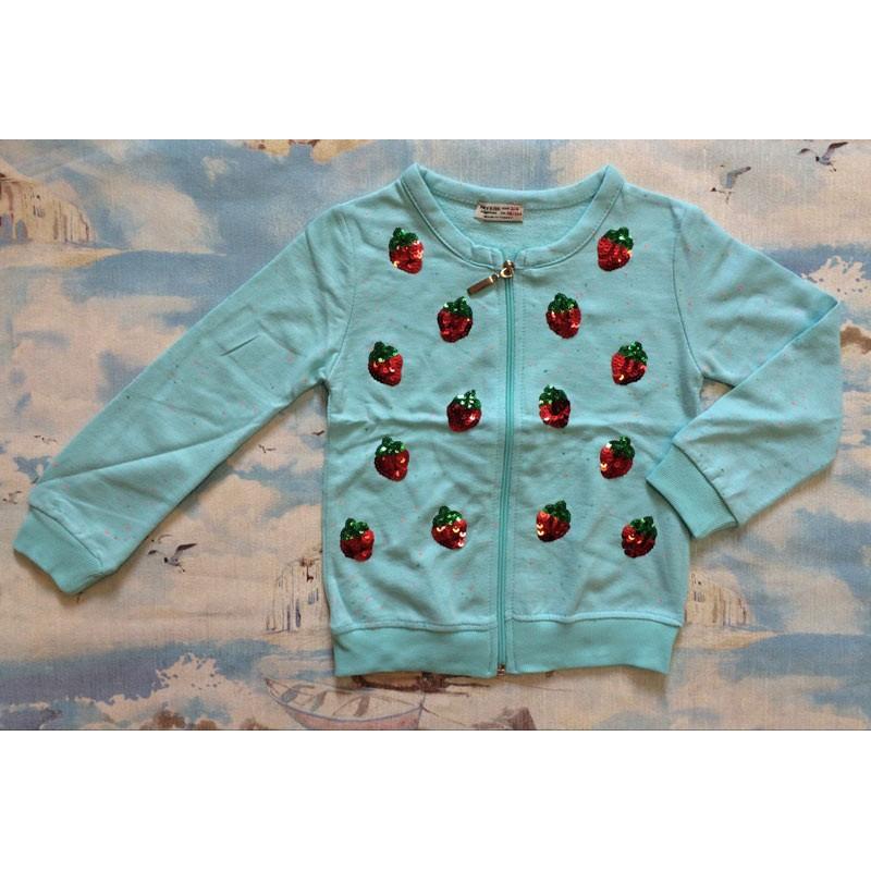 Кофта для девочек от 1 до 8 лет, цвет - голубой |10004