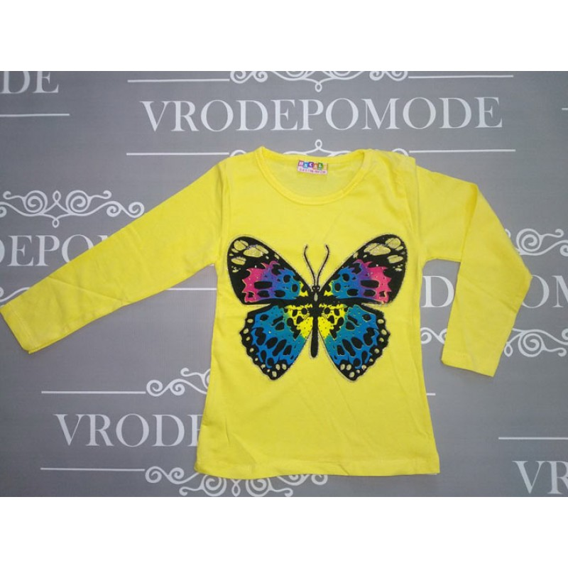 Кофта для девочек от 1 до 8 лет, цвет желтый |108647