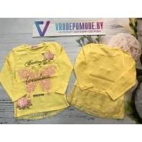 Кофта для девочек, цвет-желтый|1285891