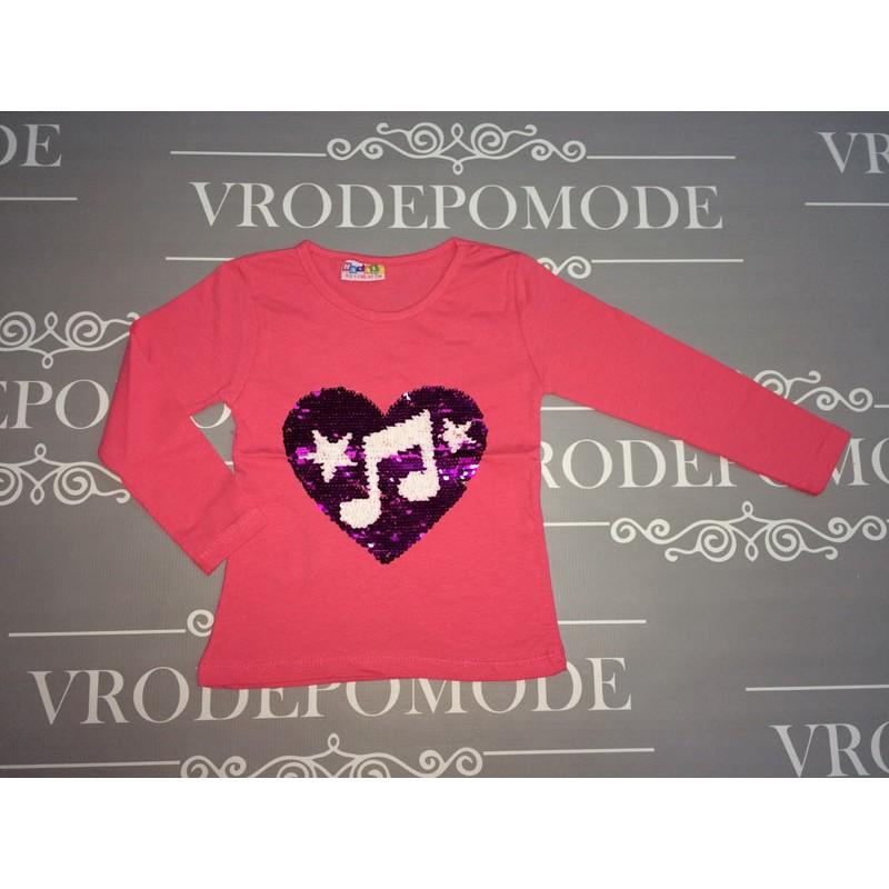 Кофта с пайетками перевертышами,цвет-розовый  68797