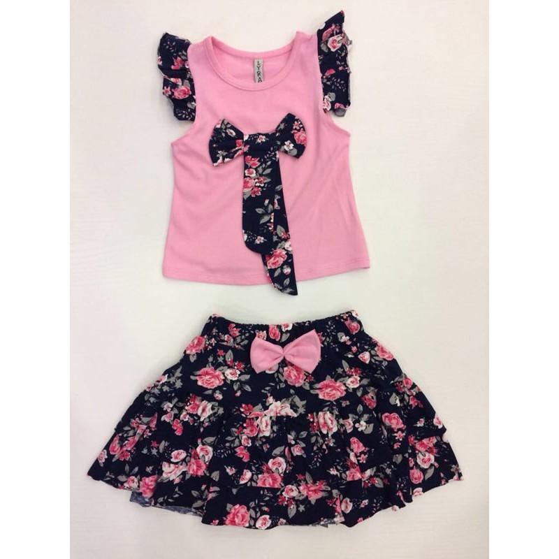 Костюм для девочек, цвет светло-розовый 10312