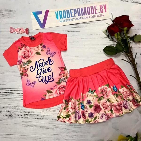 Костюм для девочек, цвет-розовый, маломерит|12603