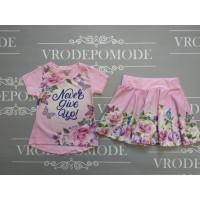 Костюм для девочек, цвет светло-розовый, маломерит|12603