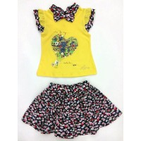 Костюм для девочек от 1 до 5 лет, цвет желтый |198020