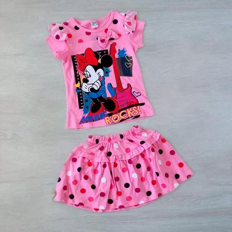 Костюм для девочек, цвет светло-розовый|3346-1