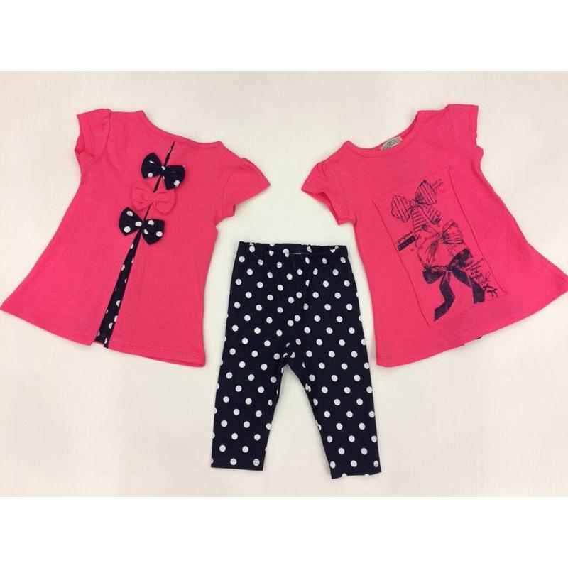 Костюм для девочек от 1 до 5 лет, цвет розовый  361015