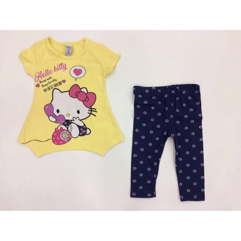 """Костюм для девочек """"Hello Kitty """", цвет желтый  370027"""