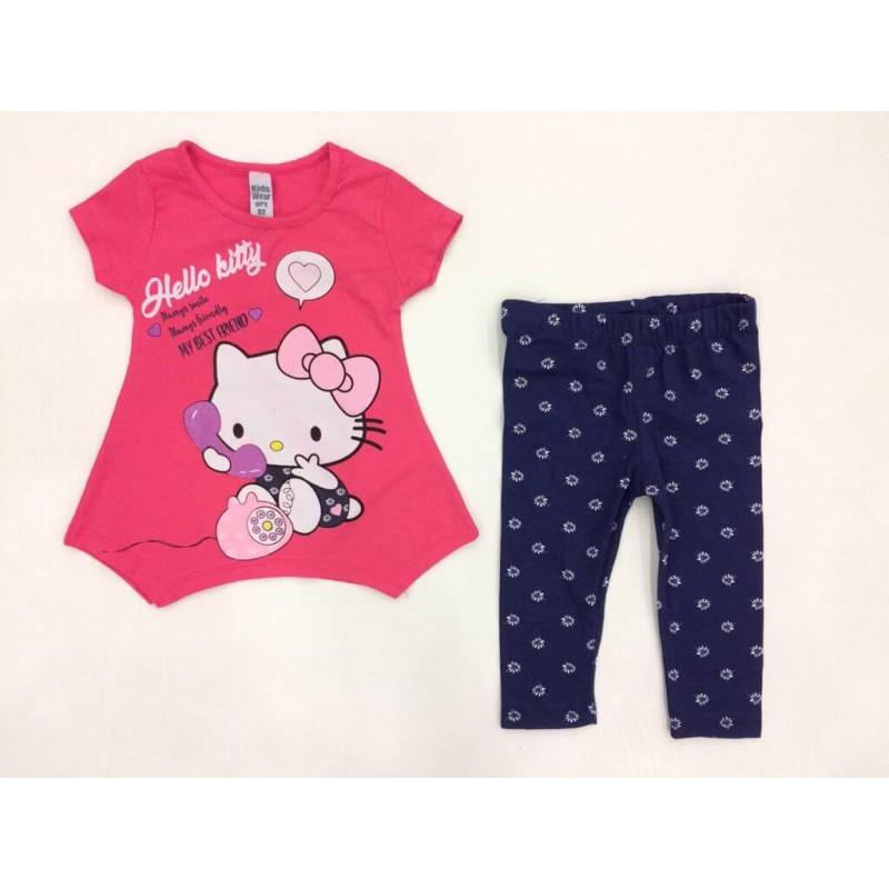 "Костюм для девочек ""Hello Kitty "", цвет розовый |370027"