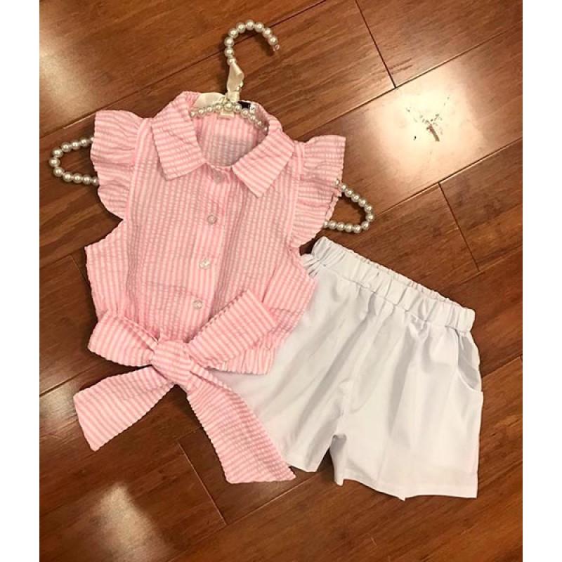 Костюм для девочек, цвет-персиковый|50236