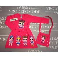 Платье с сумочкой, цвет розовый|511022