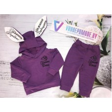Костюм для девочек, цвет-фиолетовый|66328