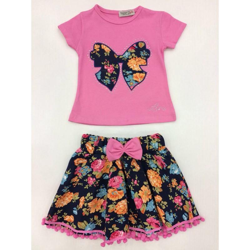 Костюм для девочек от 1 до 5 лет, розовый |695013