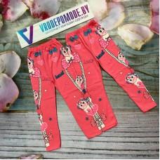 Леггинсы для девочек, цвет-розовый 1293044
