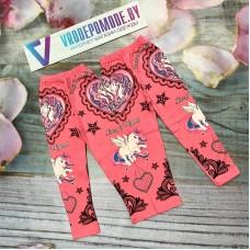 Леггинсы для девочек, цвет-розовый 1293045