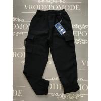 Штаны на флисе для мальчиков, цвет темно-синий|80532