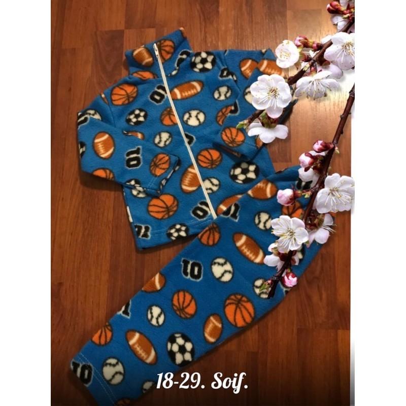 Теплая флисовая пижама|Х09296-5