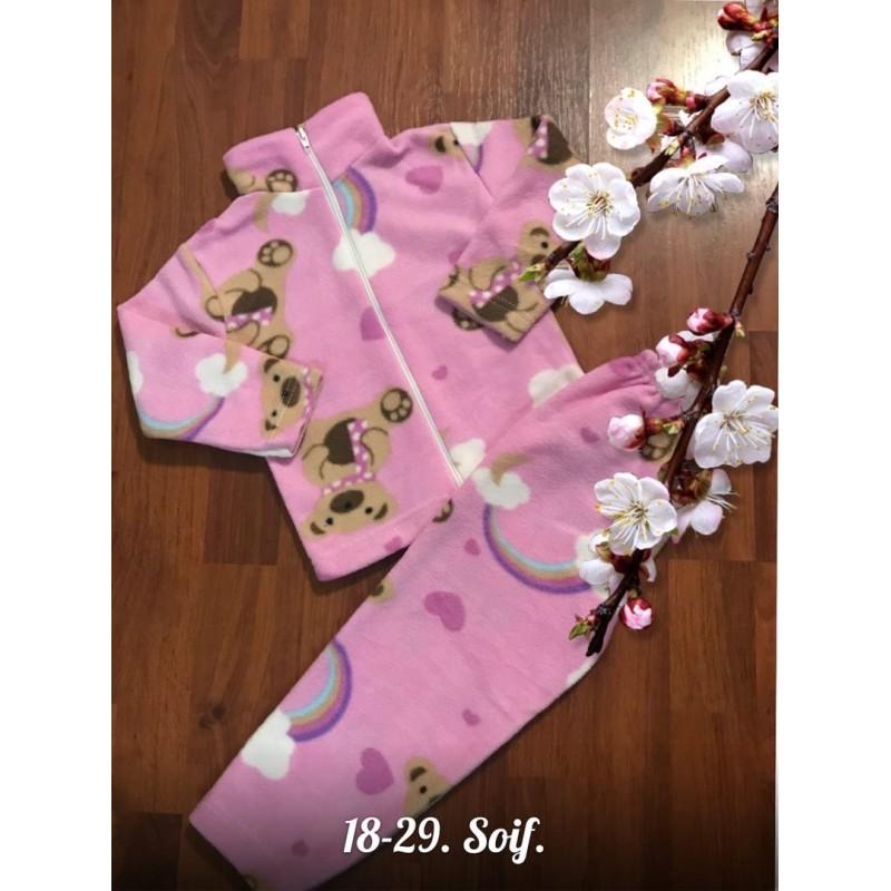 Теплая флисовая пижама Х09296-7