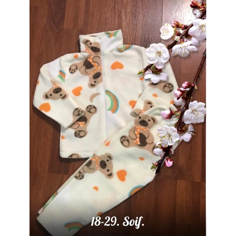 Теплая флисовая пижама|Х09296-1