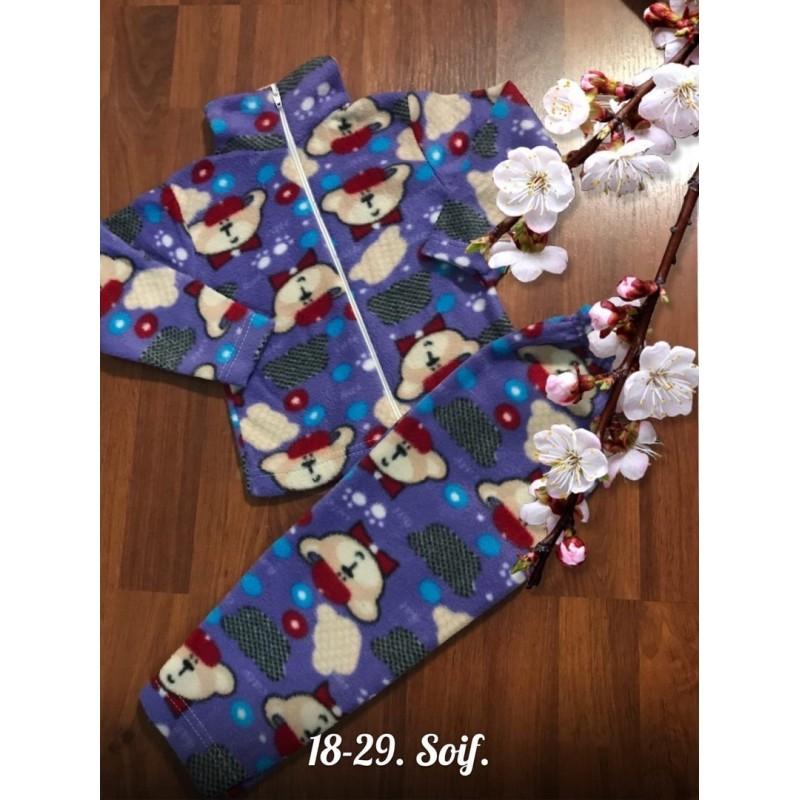 Теплая флисовая пижама Х09296-4