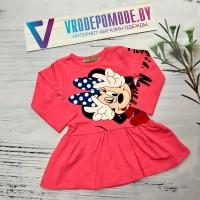 Платье для девочек, цвет-розовый 124119