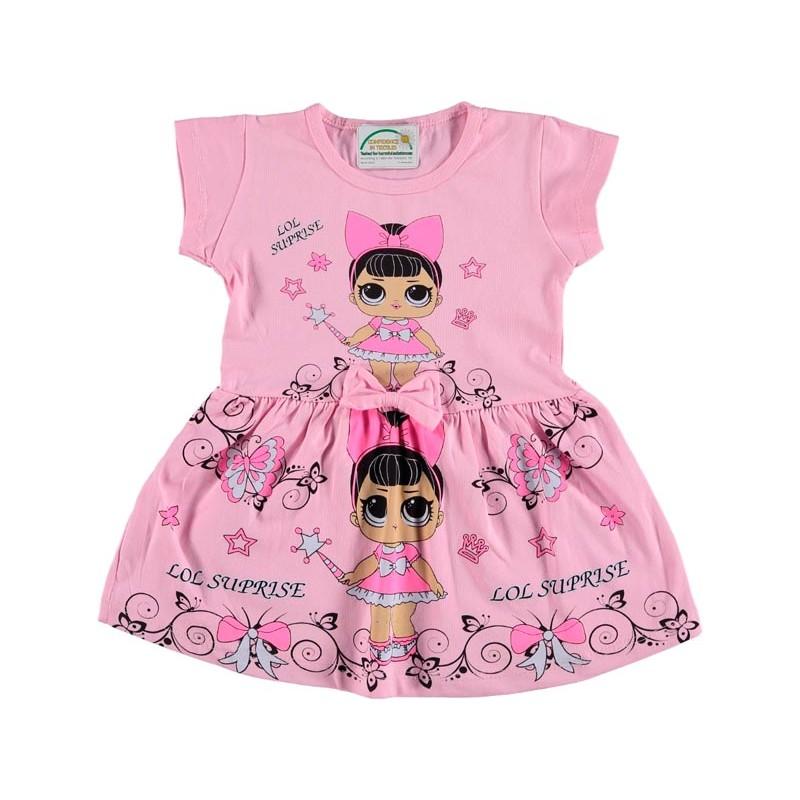 Детское платье, цвет светло-розовый 1262398