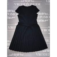 Платье для девочек, цвет темно-синий |12697