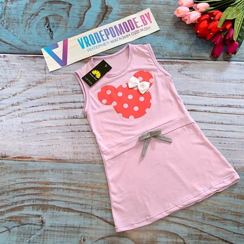 Платье для девочек, цвет-сиреневый|18037