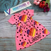 Платье для девочек, цвет-розовый|18299