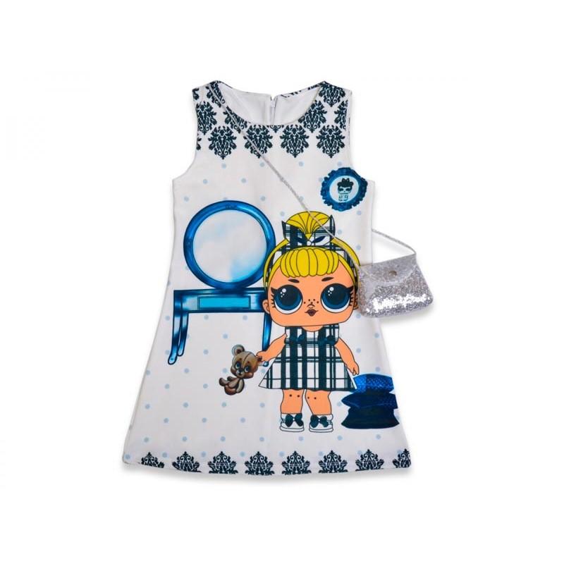 Детское платье с сумочкой |18630-3