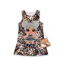 Детское платье с сумочкой |18630-4