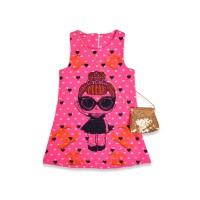 Детское платье с сумочкой, цвет-малиновый |18630-5