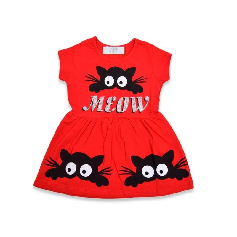 Детское платье для девочек, цвет-красный|21367