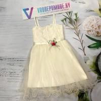 Платье для девочек от 5 до 8 лет, цвет белый, маломерит |28002