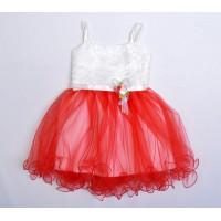 Платье для девочек, цвет красный, маломерит |28002