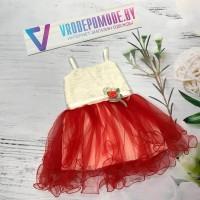 Платье для девочек, цвет красный|28002