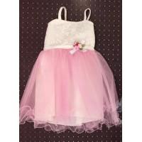Платье для девочек от 1 до 8 лет, цвет - розовый |28002