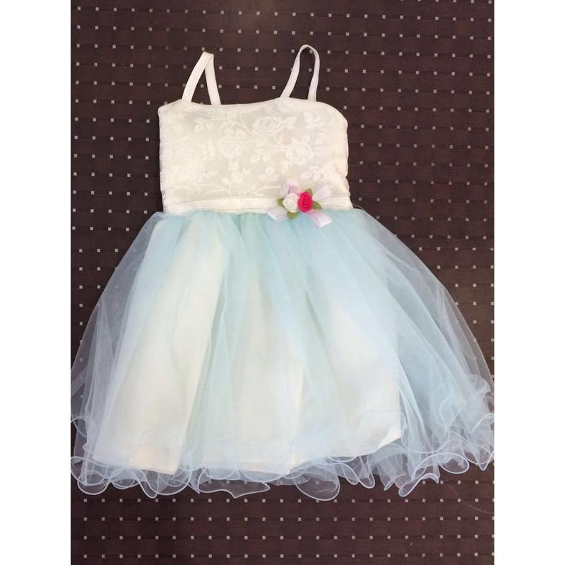 Платье для девочек от 5 до 8 лет, цвет голубой, маломерит |28002