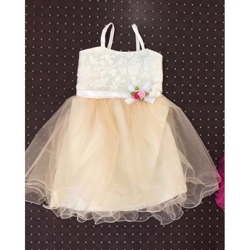 Платье для девочек от 5 до 8 лет, цвет бежевый, маломерит |28002