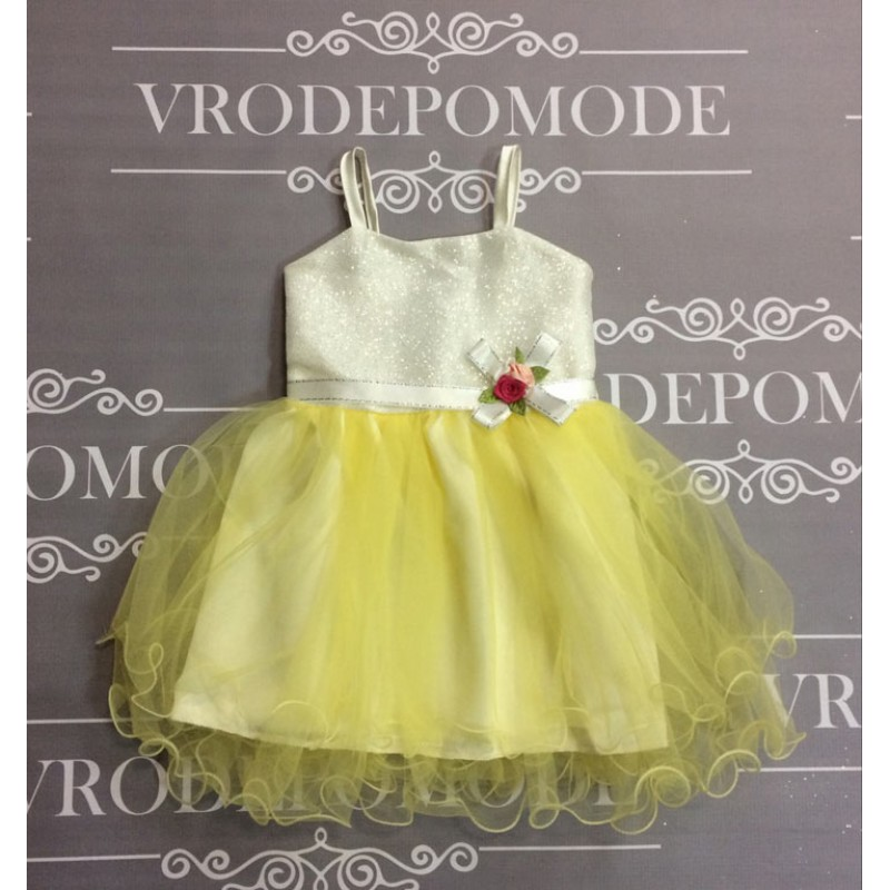 Платье для девочек от 1 до 4 лет, цвет желтый маломерит |28002