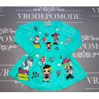 Платье для девочек, цвет-бирюзовый |2845
