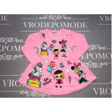 Платье для девочек, цвет светло-розовый|2845